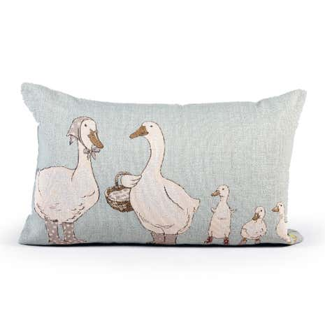 Geese in Wellies Cushion