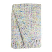 Isabelle Green Woven Throw