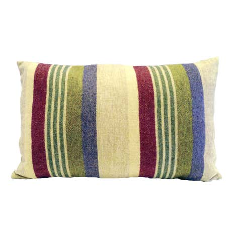 Misty Striped Tweed Cushion