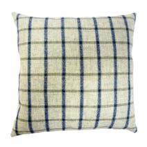 Purity Checked Tweed Cushion