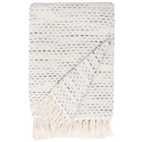 Grey Purity Woven Throw