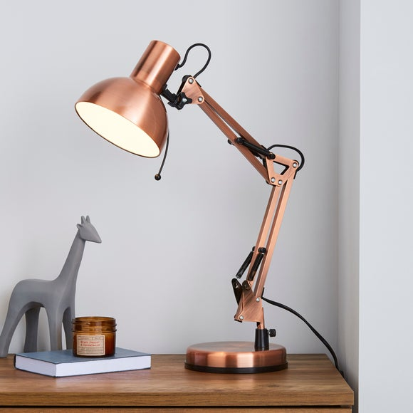 Copper Dome Head Desk Lamp | Dunelm