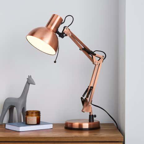 Copper Dome Head Desk Lamp