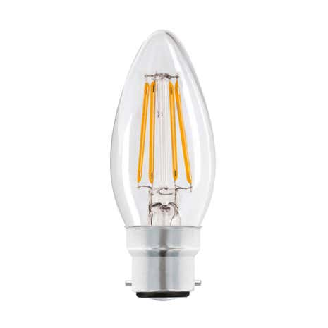 Dunelm 4w LED Filament Candle BC