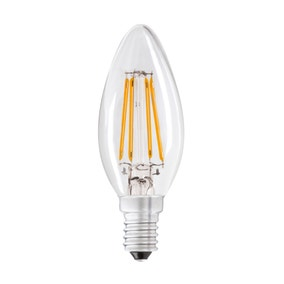 Dunelm 4W LED Filament Candle Small Edison Screw Lightbulb