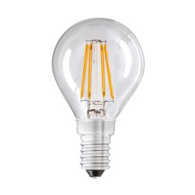 Dunelm 4W LED Filament Round Small Edison Screw Light Bulb