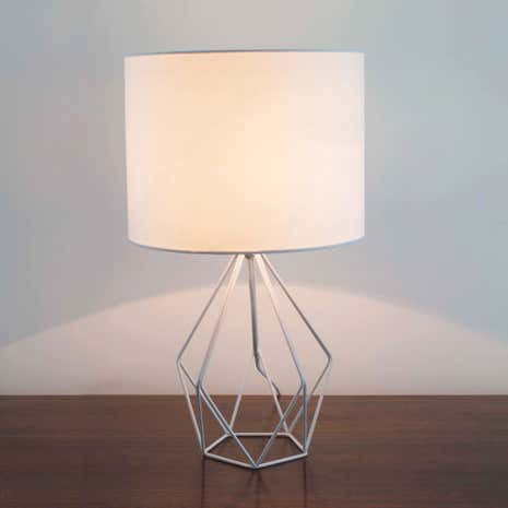 White Hooper Wire Table Lamp
