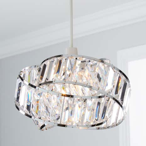 Lamp shades decorative light shades dunelm lilia acrylic easy fit pendant mozeypictures Image collections