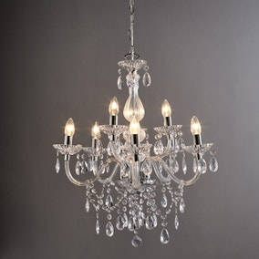 Maisie 8 Light Glass Chandelier