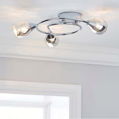 Monty 3 Light Glass Ceiling Fitting