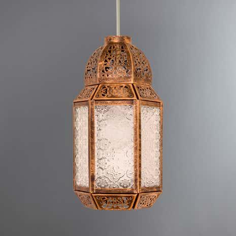 Moroccan Lantern Ceiling Pendant Dunelm