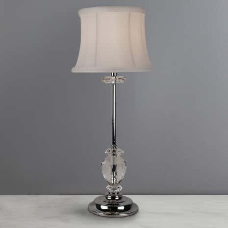 Olivier Crystal Tall Stem Table Lamp
