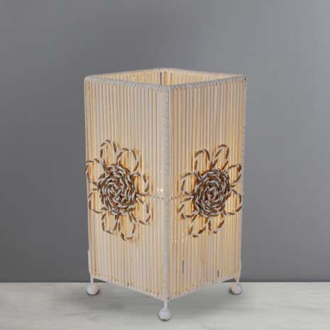 Rattan Square Table Lamp