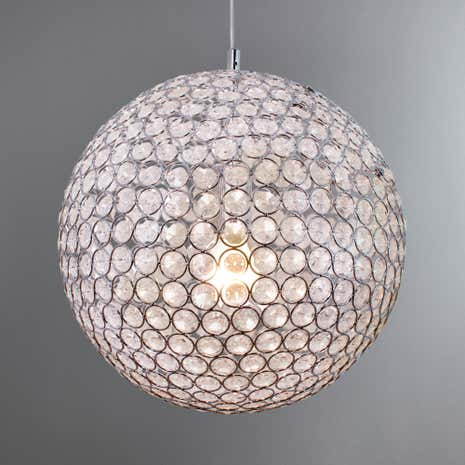Sphere Chrome Light Ceiling Fitting