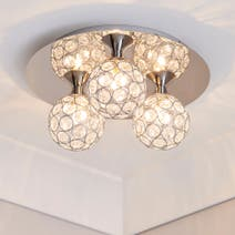 Sphere Chrome 3 Light Ceiling Fitting