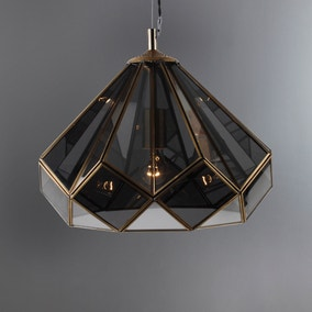 Terrarium Smoked Glass Ceiling Fitting