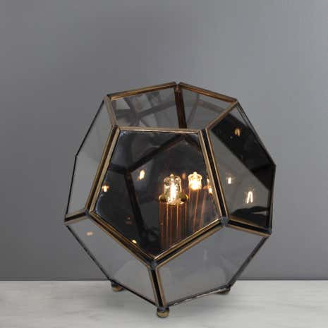Terrarium Smoked Glass Table Lamp