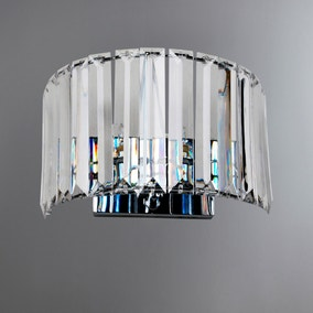 Valentine Clear Acrylic Wall Light