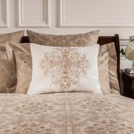 Dorma Medallion Gold Square Cushion