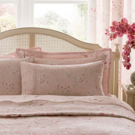 Dorma Paradise Blush Cuffed Pillowcase