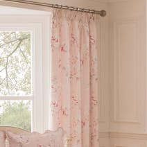 Dorma Paradise Blush Lined Pencil Pleat Curtains