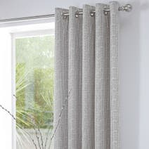 Asha Charcoal Thermal Eyelet Curtains