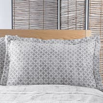 Charcoal Asha Oxford Pillowcase