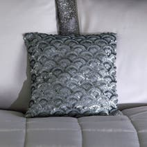 Silver Astoria Square Cushion