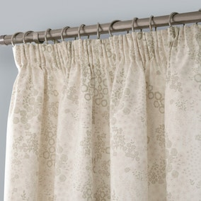 Aubrey Natural Thermal Pencil Pleat Curtains