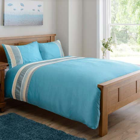 Austen Aqua Duvet Cover Set
