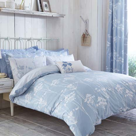 Bryony Blue Duvet Cover and Pillowcase Set