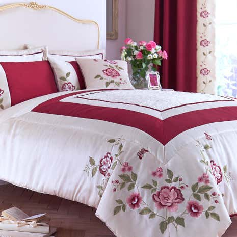 Catherine Red Bedspread