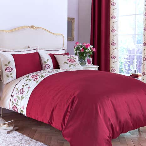Catherine Red Duvet Cover