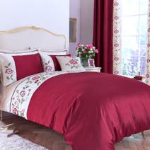 Red Catherine Duvet Cover