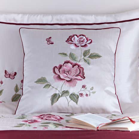 Catherine Red Square Cushion