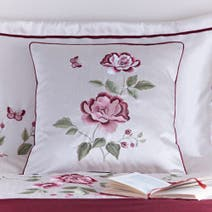 Red Catherine Square Cushion