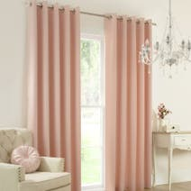 Claire Blush Thermal Eyelet Curtains