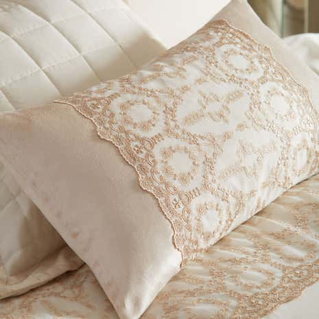 Claudia Gold Boudoir Cushion