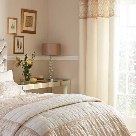 Claudia Gold Thermal Eyelet Curtains