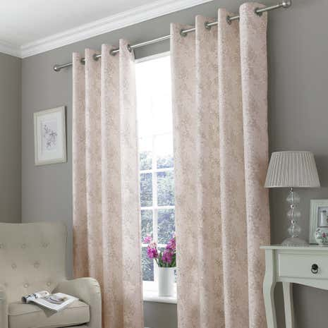 Delilah Raspberry Eyelet Curtains