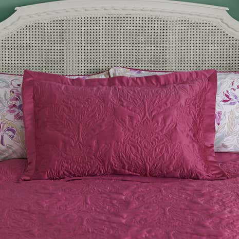 Delilah Raspberry Pillow Sham