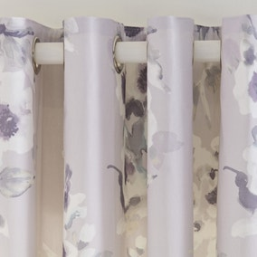 Delphine Mauve Thermal Eyelet Curtains