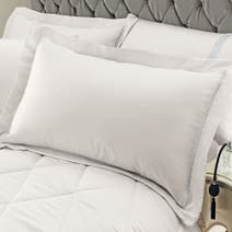 Silver Diamante Stripe Oxford Pillowcase