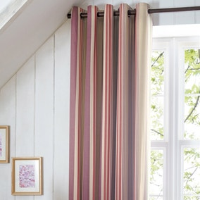 Didsbury Plum Thermal Eyelet Curtains
