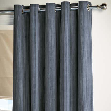 Halton Blue Thermal Eyelet Curtains