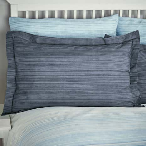 Halton Blue Oxford Pillowcase