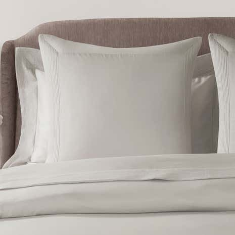 Hotel Pintuck Taupe 300 Thread Count Continental Pillowcase