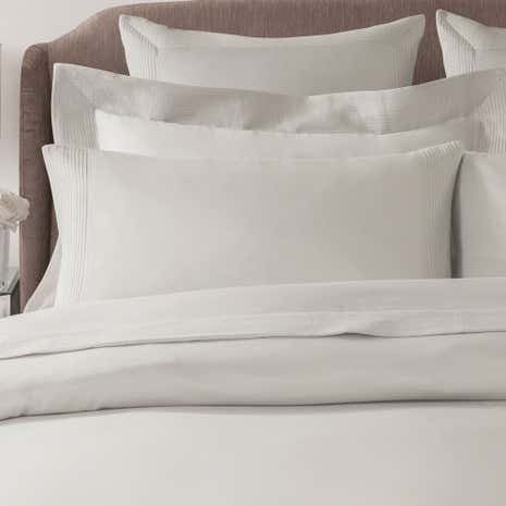 Hotel Pintuck Taupe 300 Thread Count Cuffed Pillowcase