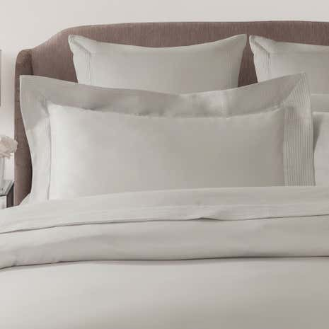 Hotel Pintuck Taupe 300 Thread Count Oxford Pillowcase