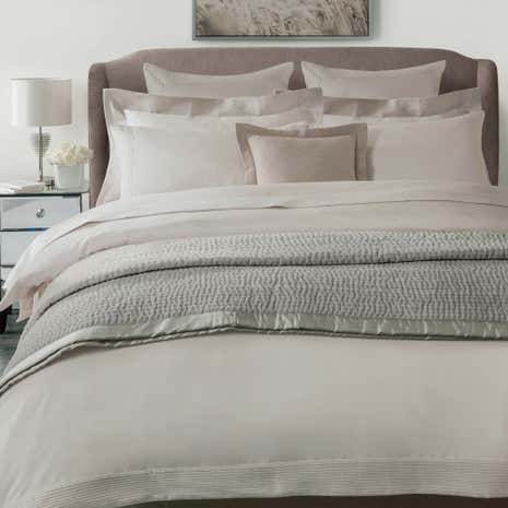 Hotel Pintuck Taupe 300 Thread Count Duvet Cover